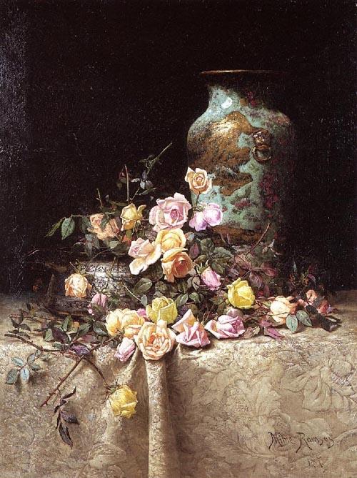 Натюрморт с розами и другие работы м