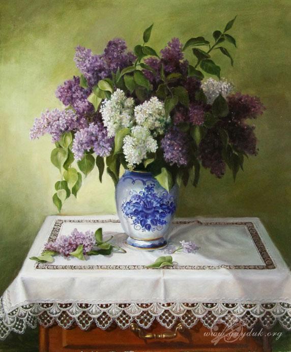 натюрморт с цветами маслом: